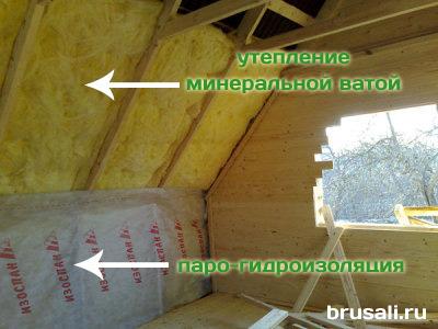 Утепление второго этажа деревянного изнутри своими руками
