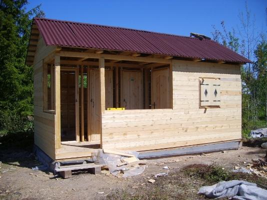 Строительство каркасной летней кухни своими руками