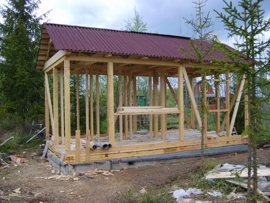 Двухскатная крыша дома своими руками Как построить дом.